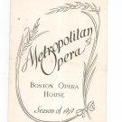 Vintage Metropolitan Opera Boston Opera House Season Of 1939 Wonderful Advertisements