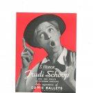 Vintage S. Hurok Presents Trudi Schoop & Her 20 Human Cartoons Advertisement Comic Ballets