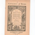 Vintage Alfred W. Paine Catalog Number 14  New York City