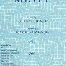 Misty Sheet Music Vocal Edition Burke & Garner Vernon