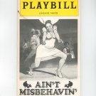 Ain't Misbehavin Playbill Longacre Theatre 1978 Souvenir