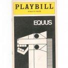 Equus Plymouth Theatre Playbill Souvenir 1975