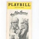 The Gin Game Playbill John Golden Theatre 1977 Souvenir