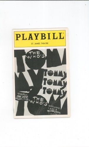 The Who's Tommy Playbill St. James Theatre 1993 Souvenir