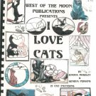 West Of The Moon Presents I Love Cats Moseley & Perkins Stained Glass Patterns