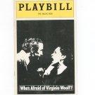 Who's Afraid Of Virginia Woolf? Playbill The Music Box 1976 Souvenir