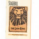 The Lion King Stagebill New Amsterdam Theatre 1998 Souvenir