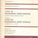 Vintage University of Massachusetts COGO 36 Engineering User's Manual 1965 Santoro Boyer