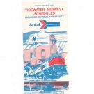 Vintage Amtrak Tidewater Midwest Cumberland Schedules 1975 Not PDF