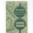 Vintage Lionel Trains Instructions For Assembling And Operating 1951