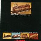 Vintage Lionel Trains Announcement Brochure GG-1 The General Disney Amtrak N&H Rectifier1976 Not PDF
