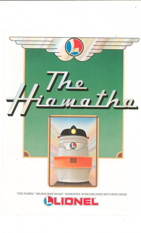 Vintage Lionel Hiawatha Streamliner Trains Brochure 1988 Not PDF Free Shipping Offer