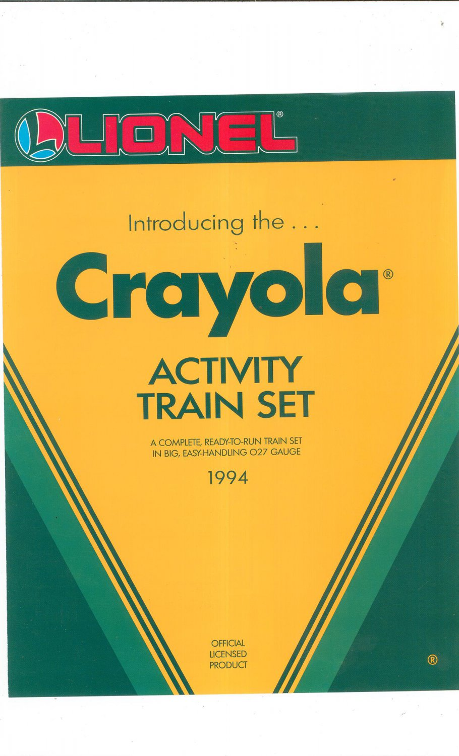 Lionel 1994 Introducing The Crayola Activity Train Set Brochure Not PDF Free Shipping Offer