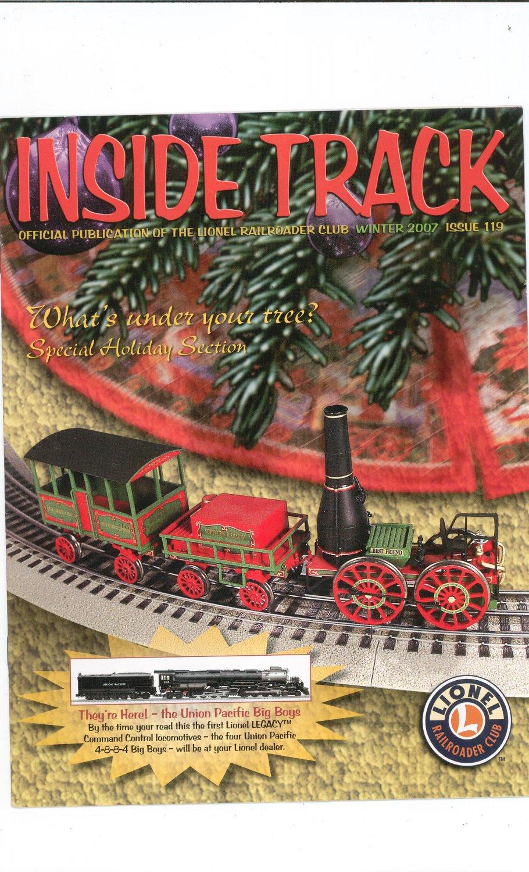 Lionel Railroader Club Inside Track Winter 2007 Issue 119 Not PDF Train