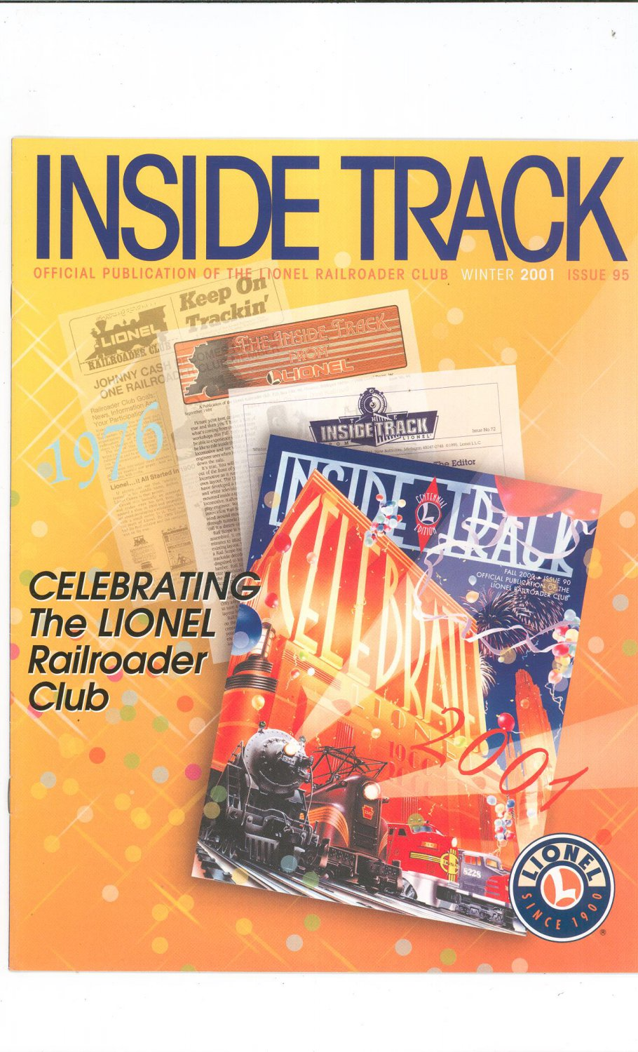 Lionel Railroader Club Inside Track Winter 2001 Issue 95 Not PDF Train Free Shipping Offer