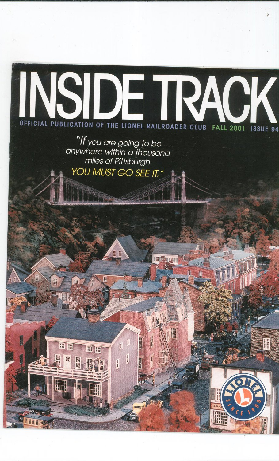 Lionel Railroader Club Inside Track Fall 2001 Issue 95 Not PDF Train Free Shipping Offer