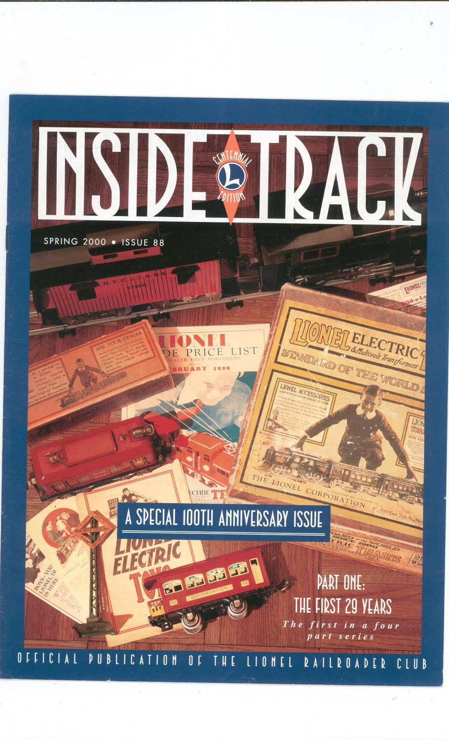 Lionel Railroader Club Inside Track Spring 2000 Issue 88 Not PDF Train Free Shipping Offer