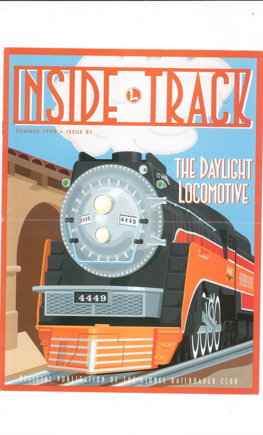 Lionel Railroader Club Inside Track Summer 1998 Issue 81 Not PDF Train Free Shipping Offer