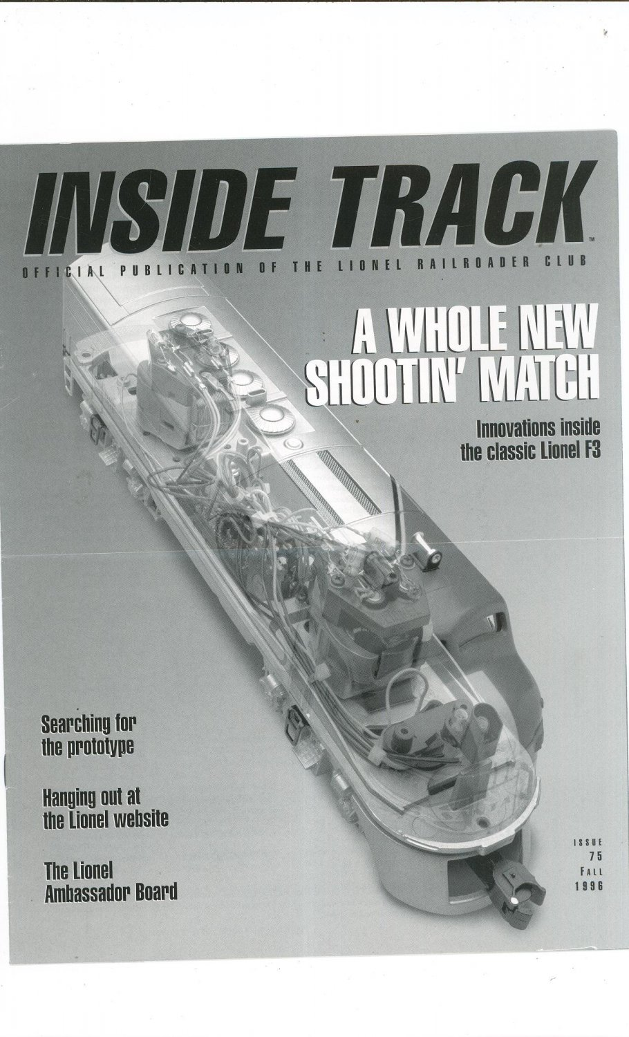 Lionel Railroader Club Inside Track Fall 1996 Issue 75 Not PDF Train Free Shipping Offer