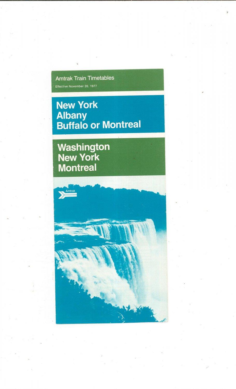 Vintage Amtrak Train Timetables New York Albany Buffalo Montreal Washington