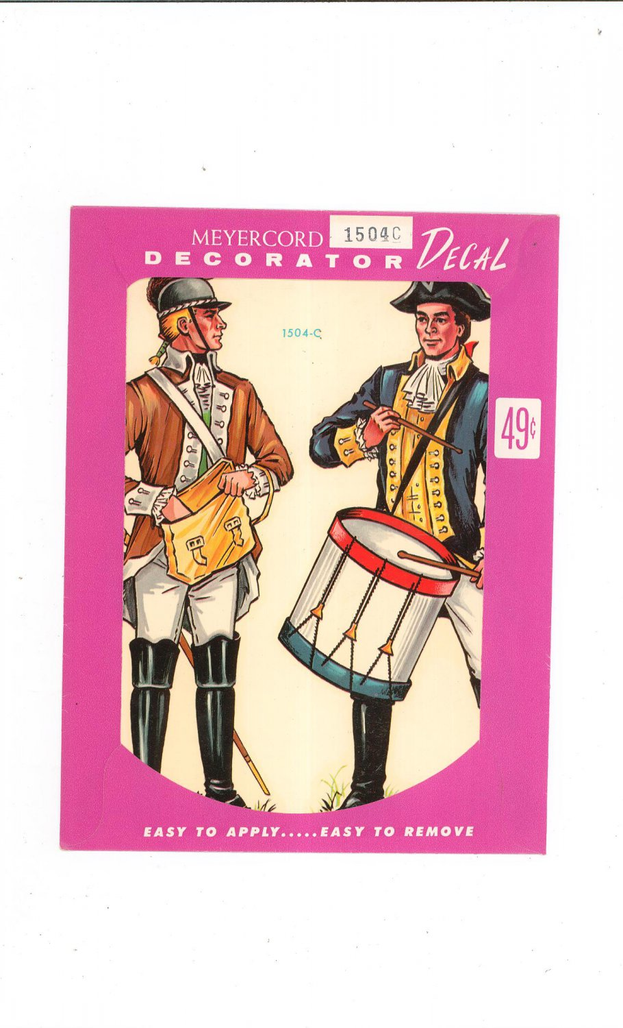 Vintage Lot Of 2 Meyercord Decorator Decals 1504C & 1504D In Package