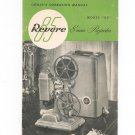 Vintage Revere Model 85 8 mm Projector Owners Manual Not PDF