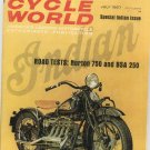 Vintage Cycle World Magazine July 1967 Indian Norton BSA Not PDF
