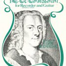 Telemann For Recorder and Guitar Reichenthal Belwin Mills