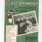 Close Harmony 20 Permanent Song Favorites Ed Smalle & The Eton Boys Revised Edition