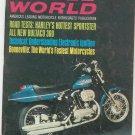 Vintage Cycle World Magazine November 1969 Harley Bultaco 360 Bonneville  Not PDF
