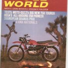Vintage Cycle World Magazine October 1969 Guzzis 750 Tourer Ossa's 250 Pioneer  Not PDF