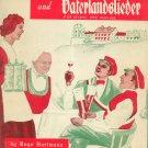 Volks Kommers und Vaterlandslieder für Gesang und Klavier Folk Songs Hugo Hartmann