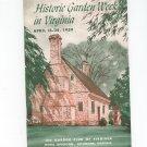 Historic Garden Week In Virginia 1959 Program Garden Club Of Virginia Not PDF
