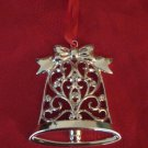 Lenox Bell Ornament Silver Plate With Box Sparkle And Scroll