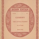 Czerny The Little Pianist Op. 823 Complete Ditson Edition Vintage
