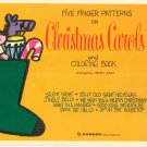 Five Finger Patterns On Christmas Carols Henry Gass Vintage Hansen Publications