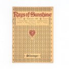 Vintage Rays Of Sunshine September 1931 A Humanized Monthly Cheeriodical Clyde Slininger Iowa