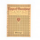 Vintage Rays Of Sunshine August 1931 A Humanized Monthly Cheeriodical Clyde Slininger Iowa