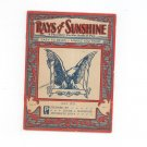 Vintage Rays Of Sunshine July 1929 A Monthly Pocket Book Of Pep Clyde Slininger Iowa