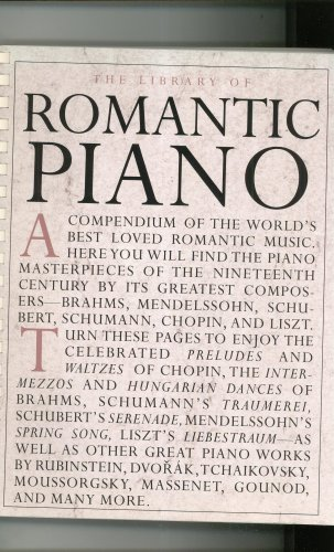 The Library of Romantic Piano Music Book Amsco