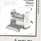 "Delta 12"" Portable Planer Model 22-540 Owners Manual With Parts List Not PDF"
