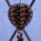 Stars & Stripes Santa 1st Annual Danbury Mint Ornament With Box Hot Air Balloon