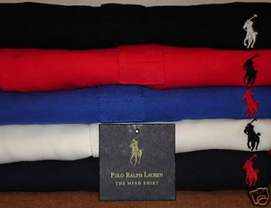 Men's Ralph Lauren Mesh Polo Shirts NEW Lot of 5 SIZE SMALL
