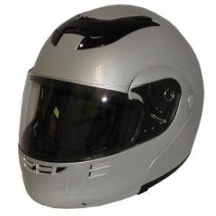 DOT Full Face Helmets Silver Modular Motorbike Helmets