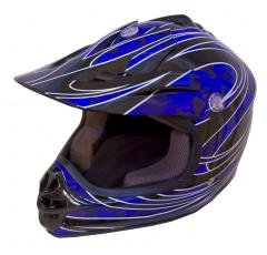 DOT ATV Dirt Bike MX Kids Motorbike Helmets BlueG