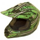 DOT ATV Dirt Bike MX Kids Motorbike Helmets Green Camo