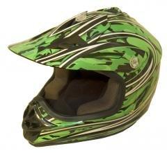 DOT ATV Dirt Bike MX Kids Motorbike Helmets Green Camo