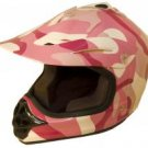 DOT ATV Dirt Bike MX Kids Motorbike Helmets Pink Camo