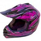 DOT ATV Dirt Bike MX Kids Motorbike Helmets PinkG