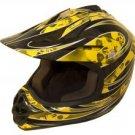 DOT ATV Dirt Bike MX Kids Motorbike Helmets YellowG